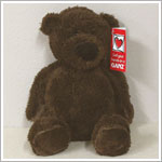 "Ganz 9"" Mini Tubby Tummy Bear - Chocolate Brown"