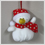 Ganz Plush Snowman Ornament