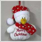 Ganz Plush Snowman *Sayings* Ornament