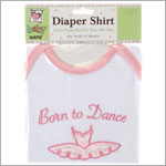 Ganz White/Pink *Born To Dance* S/S Bodysuit