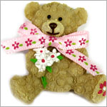 Ganz Friendship Teddy Bear Charm & Card