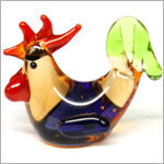 Ganz *Laying Rooster* Mini Glass Animal World