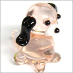 Ganz *Puppy with Black Ears* Mini Glass Animal World