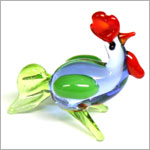 Ganz *Standing Rooster* Mini Glass Animal World