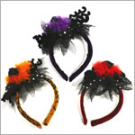 Ganz Spooky Spider Lacy Headband *Many Colors!*