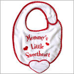 Ganz Red/White Bib *Mommy's Little Sweetheart*