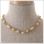 : Ganz November Birthstone Necklace