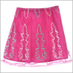 GT Pink Embroidered Skirt