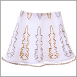 GT White Embroidered Skirt