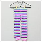 Happy Green Bee Multi Striped Footless Tights
