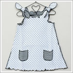 Happy Green Bee White/Black Reversible Aline Sundress