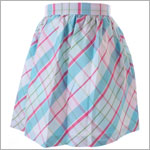 II: Hartstrings Light Blue Plaid Woven Skirt