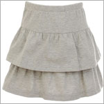 Hartstrings Grey Knit Layered Skort