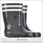 Hartstrings Navy Rain Boots with White Stripes