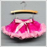 Z: Huggalugs Smitten - Hot Pink/Light Pink Newborn Pettiskirt
