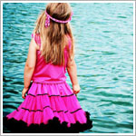 Z: Huggalugs Smitten - Hot Pink & Black Ribbon Pettiskirt