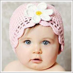 Z: Huggalugs Hat - Light Pink Crocheted Cloche