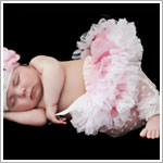 Z: Huggalugs Smitten - Light Pink/White Newborn Pettiskirt