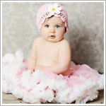 Z: Huggalugs Smitten - Light Pink & White Pettiskirt
