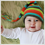 Z: Huggalugs Hat - Multi Color Stripe Stocking Cap