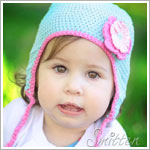 Z: Huggalugs Hat - Turquoise Crocheted Beanie