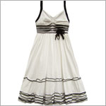 Isobella & Chloe White/Black Strappy Dress w/ Bows