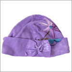 Toddler Indygo Artwear Purple Midnight Garden Beanie