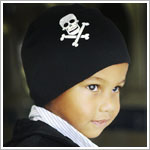 Z: Black Skull Screen Print Beanie