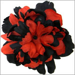 Z: Black/Red Peony Bloom
