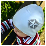 Z: Baby Blue Star Screen Print Beanie
