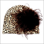 Z: Leopard Print-Brown Curly Beanie