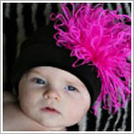 Z: Black Velvet Curly Marabou Hat *Many Marabou Colors!*