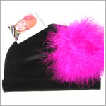 Z: Black Velvet Marabou Hat *Many Marabou Colors!*