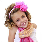Z: Candy Pink Curly Marabou Hard Headband