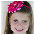 Z: Candy Pink Daisy Hard Headband