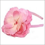 Z: Candy Pink Rose Hard Headband