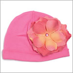 Z: Candy Pink Rose Beanie Hat