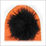 Z: Pumpkin Orange Halloween Marabou Beanie Hat