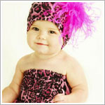 Z: Hot Pink Leopard Pipette & Hat Set