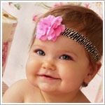 Z: Leopard Mini Rose Flowerette Headband