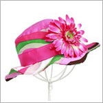 Z: Multi Stripe Sun Hat *Many Flower Colors!*