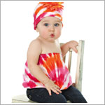 Z: Orange/Pink Tie Dye Pipette Top Only