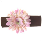 Z: Brown w/ Pink Daisy Headband