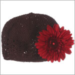 Z: Crochet Chocolate Daisy Hat *Many Daisy Colors!*