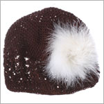 Z: Crochet Chocolate Marabou Hat *Many Colors!*