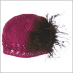 Z: Crochet Raspberry Curly Marabou Hat *Many Colors!*