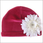 Z: Raspberry Velvet Daisy Hat *Many Daisy Colors!*