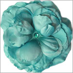 Z: Teal Large Rose Bloom