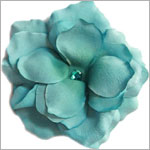 Z: Teal Small Rose Bloom