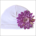 Z: White Velvet Daisy Hat *Many Daisy Colors!*